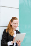 Young Businesswoman Using Tablet PC Stock Photo