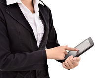 Young businesswoman using tabs Royalty Free Stock Photos
