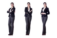 The young businesswoman in various poses Stock Photography