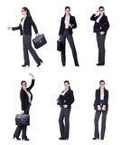 The young businesswoman in various poses Royalty Free Stock Photography