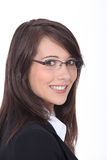 Young businesswoman wearing glasses Stock Photography