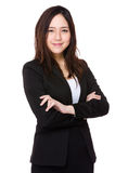 Young businesswoman. On white background Stock Photos