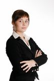 Young businesswoman on a white background Stock Photos