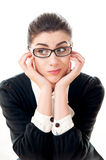 Young businesswoman wondering gesture Stock Images