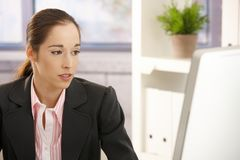 Young businesswoman at work Royalty Free Stock Images