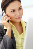Young businesswoman at work Stock Photography