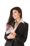 Young businesswoman working on Royalty Free Stock Photos