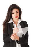Young businesswoman working on Royalty Free Stock Photography