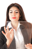 Young businesswoman working on Stock Images