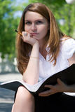 Young businesswoman working. Stock Photography