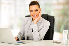 Young businesswoman working Stock Photo