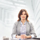 A young businesswoman working in formal clothes Stock Photos