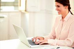 Young businesswoman working with her laptop Royalty Free Stock Photo