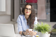 Young businesswoman working at home Stock Photography