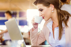 Young businesswoman working Royalty Free Stock Photos