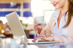 Young businesswoman working Stock Images