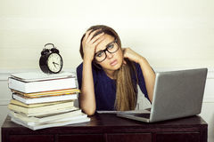 Young businesswoman working. Royalty Free Stock Photo