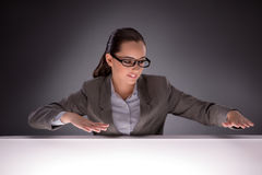 The young businesswoman working on the table Royalty Free Stock Images
