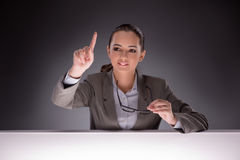The young businesswoman working on the table Royalty Free Stock Image