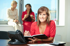Young businesswoman writing notes Royalty Free Stock Image