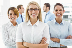 Young businesswomen with arms crossed Royalty Free Stock Image