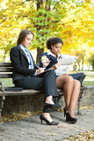 Young businesswomen on break Royalty Free Stock Image