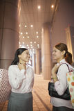 Young businesswomen with shopping bags Royalty Free Stock Photography