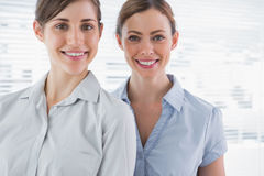 Young businesswomen smiling Royalty Free Stock Image