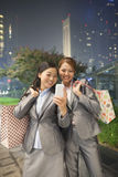 Young businesswomen taking self-portrait with Cell Phone Royalty Free Stock Photo