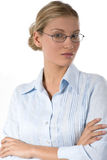 Young busineswoman. Portrait of a young successful businesswoman, isolated in white Stock Photos