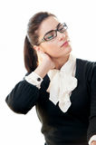 Young busineswoman with neck pain Stock Photos