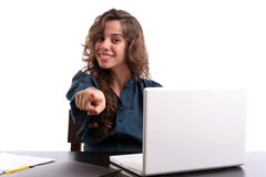 Young Bussiness woman expressing positivity Royalty Free Stock Images
