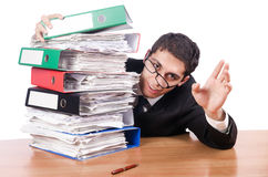 Young busy businessman Stock Photo