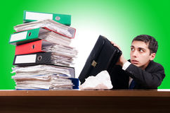Young busy businessman Royalty Free Stock Photo