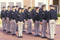 Young Cadets. St. John's Military School, Salina, Kansas Stock Image