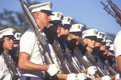 Young Cadets Marching. The Citadel Military College, Charleston, South Carolina Stock Image