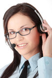 Young call cener worker Stock Image