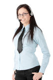 Young call cener worker Royalty Free Stock Images