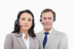 Young call center agents standing together Royalty Free Stock Photography