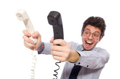 Young call center employee Royalty Free Stock Images
