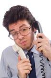 Young call center employee Stock Photo