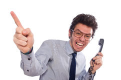 Young call center employee Stock Photography