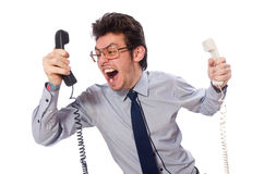 Young call center employee Stock Images