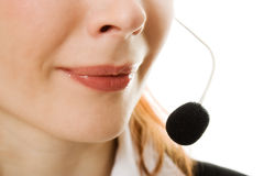 Young call center female operator Stock Photos