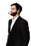 Young call center man. Young handsome smiling call center man Stock Image