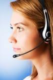 Young call center operator Stock Photos