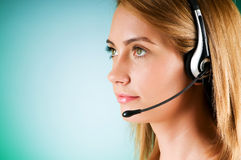 Young call center operator Royalty Free Stock Photography