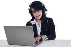 Young call center operator Royalty Free Stock Photo