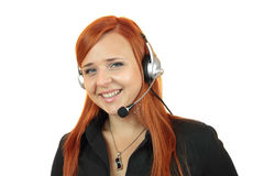 Young call center secretary consultant woman Stock Images