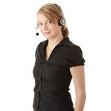 Young call center worker Royalty Free Stock Photos